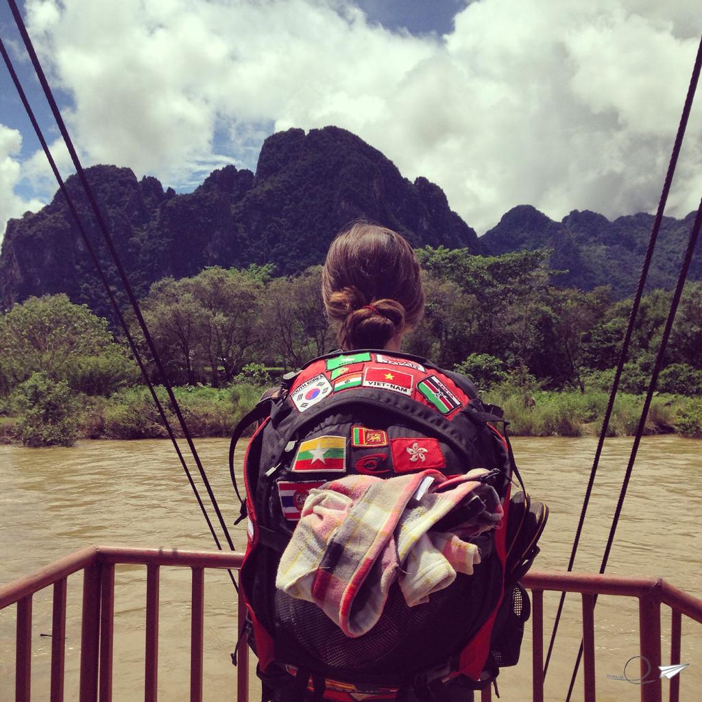 La mochila en Vang Vieng, Laos