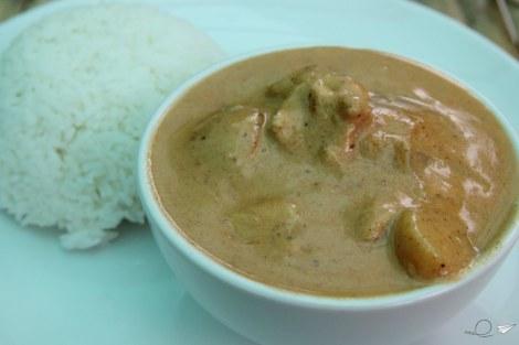 El dulce y especiado Massaman curry.