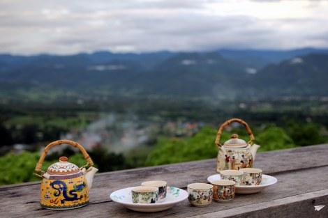 Las vistas de Pai desde el mirador del poblado chino.