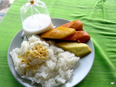Mango sticky rice de mis amores.