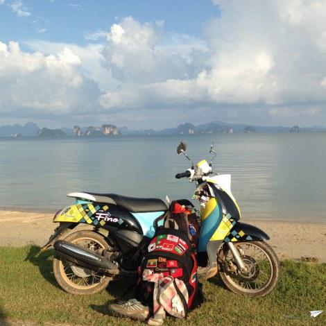 Moto en Koh Yao Noi