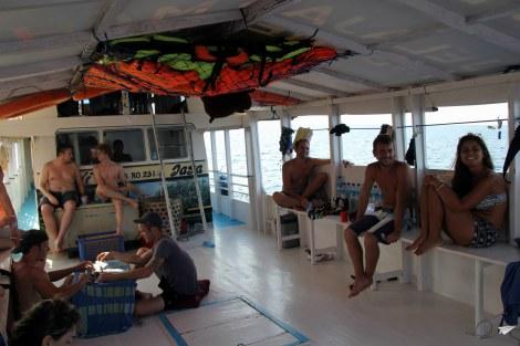 Salón barco Lombok Flores