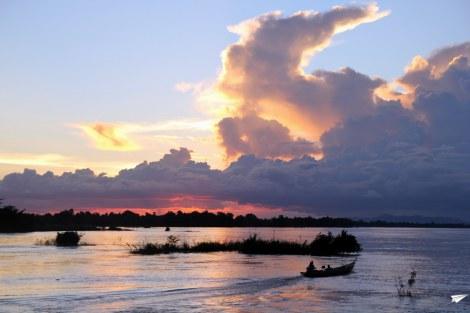 Atardecer 4000 islas Laos