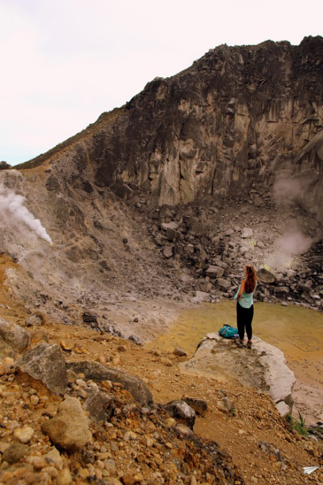 Volcán Berastagi Sumatra