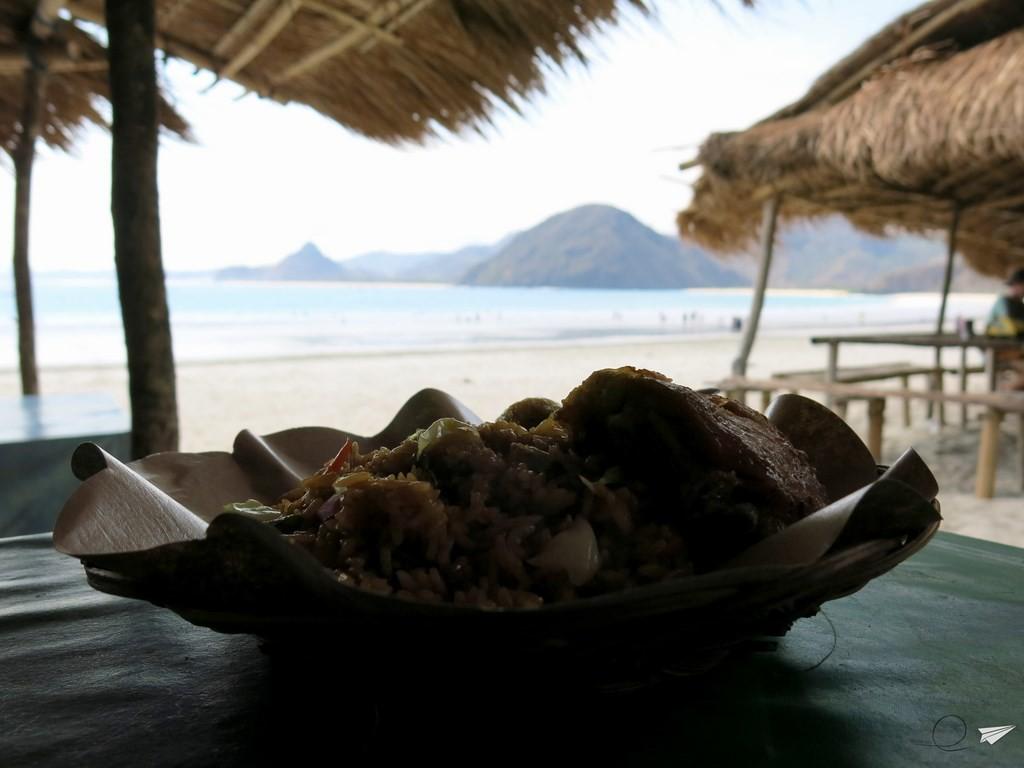 Comida Indonesia playa