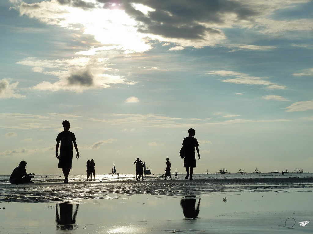 Atardecer Boracay Filipinas