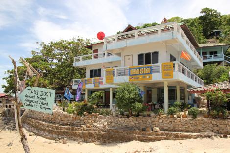 La fachada de Ihasia, mi casa en Koh Tao