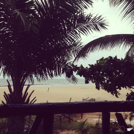 Las vistas desde el bungalo de Koh Phanghan