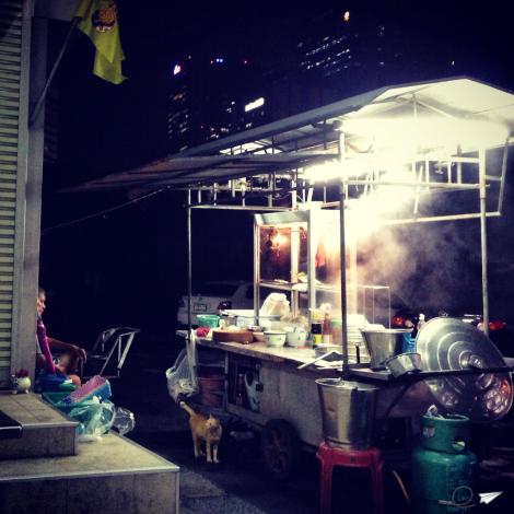 Puestos callejeros en Bangkok