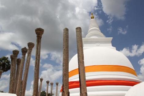 La dagoba de Thuparama, la más antigua de Sri Lanka
