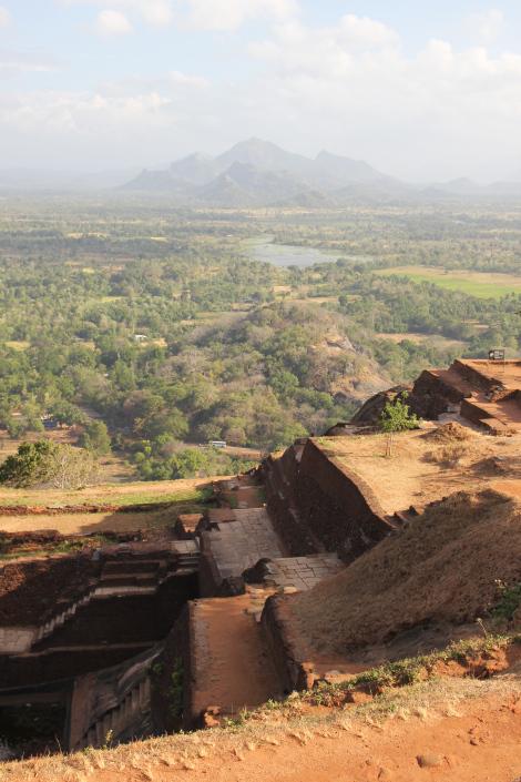 Las vistas desde Sigirya