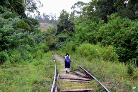 Por las vías del tren en Ella...