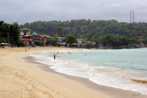 La playa de Unawatuna, Sri Lanka
