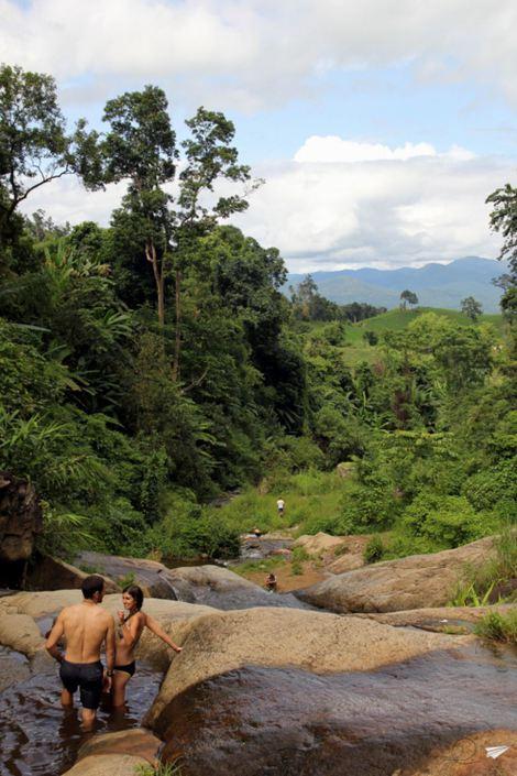 Las cataratas Mo Paeng en Pai.
