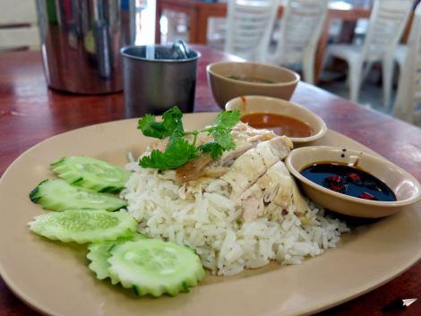 Khao mun gai, vamos, arroz con pollo.