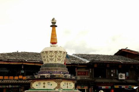 Lo poco que queda en pie del casco antiguo de Shangri-La.