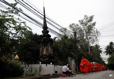 Ofrendas en Luang Prabang