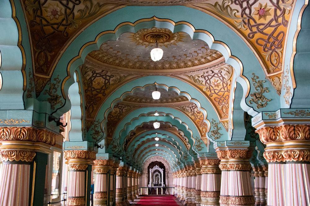interior palacio de Mysore