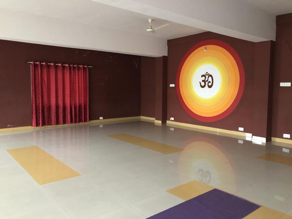 sala de yoga en Mysore