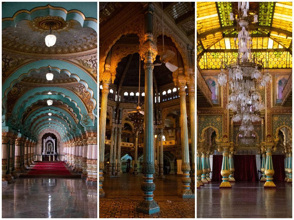 interior del palacio de Mysore
